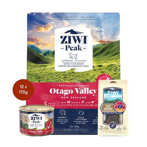Ziwi Provenance Otago Valley Air Dried Dog Food & Treats Bundle