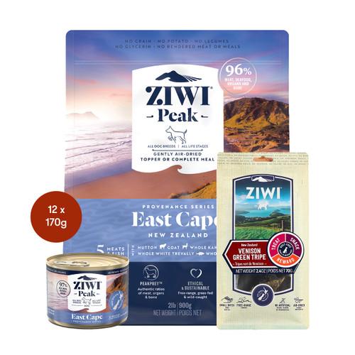 Ziwi Provenance East Cape Air Dried Dog Food & Treats Bundle