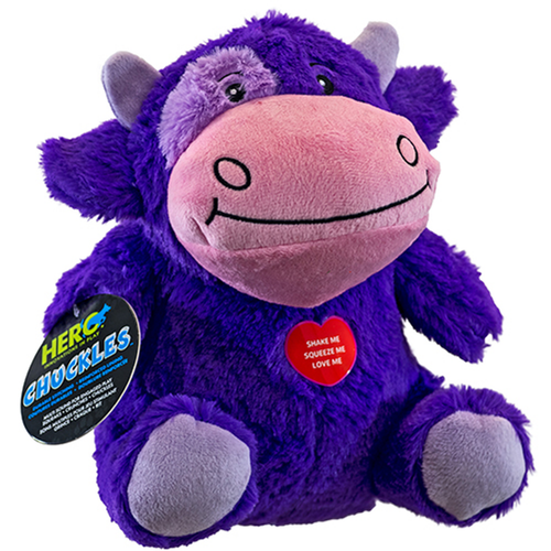Hero Chuckles Cow Dog Toy