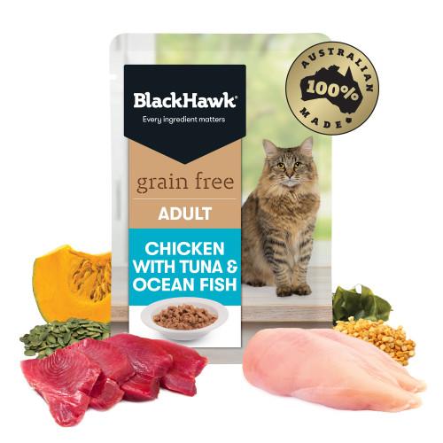 Black Hawk Chicken with Tuna & Ocean Fish Wet Cat Food