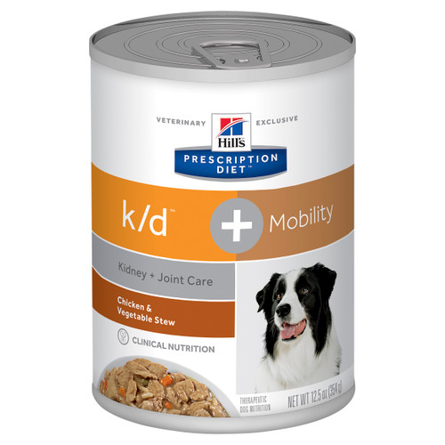 Hill's Prescription Diet k/d Kidney Care + Mobility Chicken & Vegetable Stew Canned Dog Food