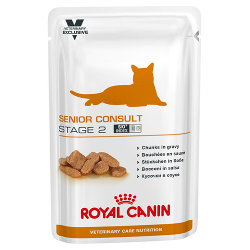 Royal Canin Vet Senior Consult Stage 2 Wet Cat Food