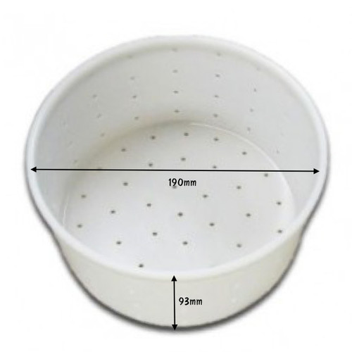 Cheese Mould 12 Brie Camembert - Large Cylinder With Built-In Base 190 x 93mm