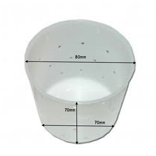 Cheese Mould 14 - Beaker With Built-In Base 80 x 70 x 70mm