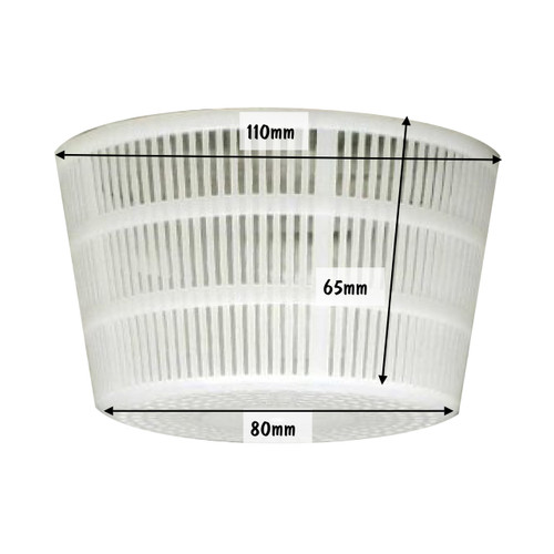 Cheese Mould 18 Small Ricotta Basket 110 x 80 x 65mm