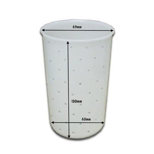 Cheese Mould 5 Beaker With Built-In Base 69 x 63 x 120mm