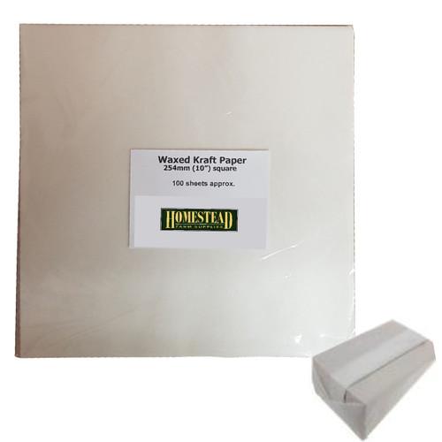 Waxed Kraft Paper 254 x 254mm 100 Sheets