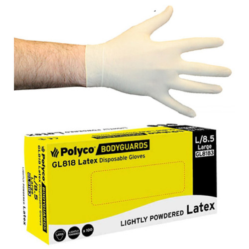 Net-Tex Disposable Latex Gloves Pack of 100
