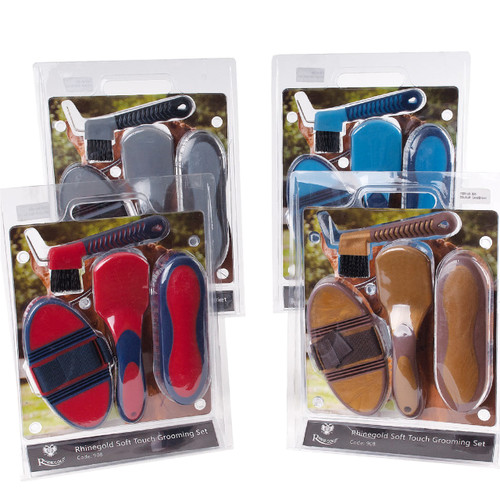 Rhinegold Soft Touch Grooming Brush Blister Pack