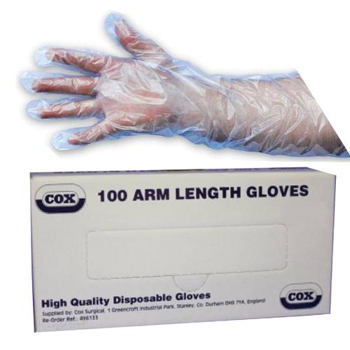 Cox Agri Silktouch Arm Length Examination Gloves Pk 100