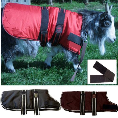 Goat Coat Red Black & Brown