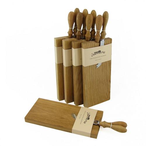 Oak Cheese Board & Knife Set