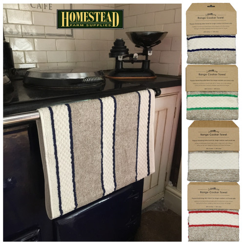 Aga/Range Towel with Poppers
