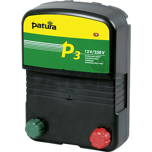 Patura P3 Multi-Voltage Energiser for Mains or Battery Connection