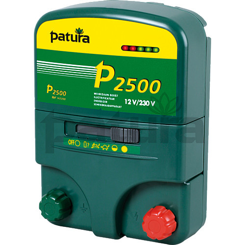Patura P2500 Multi-Function, Multi-Voltage Energiser for Mains or Battery Connection