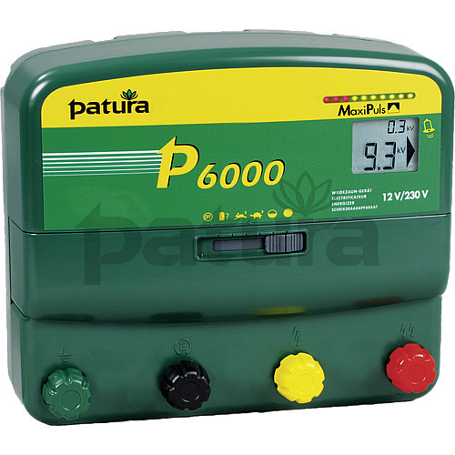 Patura P6000 Multi-Function, Multi-Voltage MaxiPlus Energiser for Mains or Battery Connection