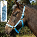 Rhinegold Nylon Horse Headcollar with Matching Lead Rope Baby Blue