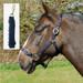 Rhinegold Nylon Horse Headcollar with Matching Lead Rope Navy