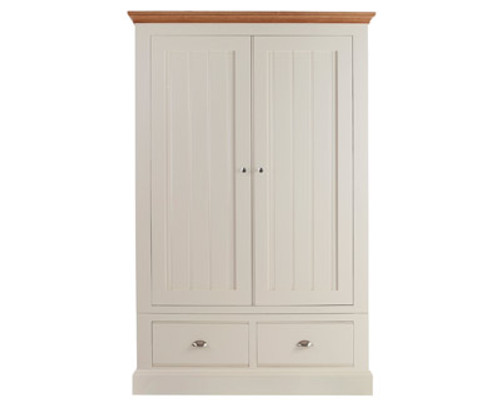 Large Ladies Wardrobe with drawer below, by New England. Available now from Countrystyle Interiors.