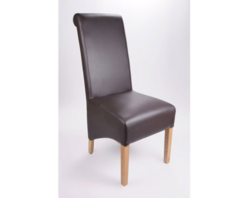 Krista Brown Leather Dining Chair, by Shanker. Available now from Countrystyle Interiors.