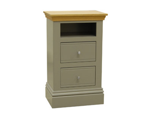 Small 2 Drawer Open Bedside, by New England. Available now from Countrystyle Interiors.