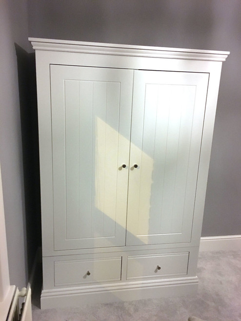 Large 2 drawer wardrobe with 2 drawers, by New England. Available now from Countrystyle Interiors.