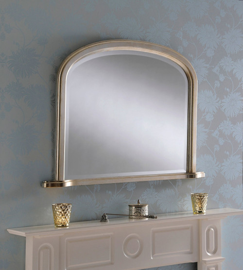 C/S 95 Silver plain overmantel mirror 42 x 32, by C/S. Available now from Countrystyle Interiors.
