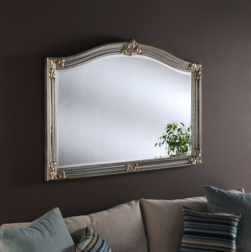 C/S 254 silver/grey overmantel mirror, by C/S. Available now from Countrystyle Interiors.