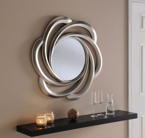 C/S 167 silver 31 Dia Round mirror, by . Available now from Countrystyle Interiors.