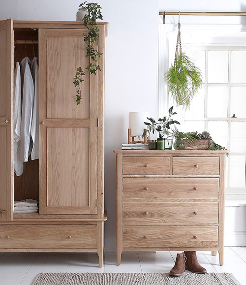 Danish style oak bedroom collection, by Countrystyle. Available now from Countrystyle Interiors.