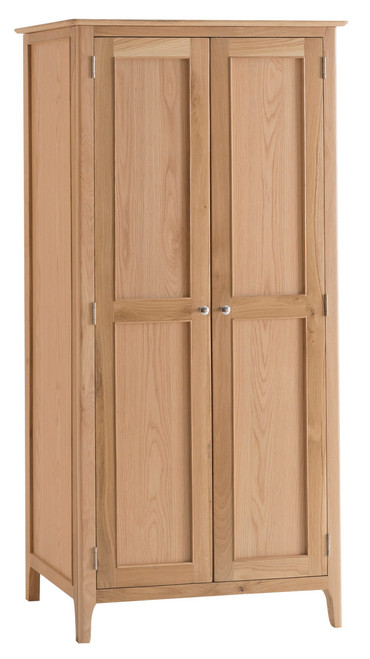 Danish style oak 2 door full hang wardrobe, by Countrystyle. Available now from Countrystyle Interiors.