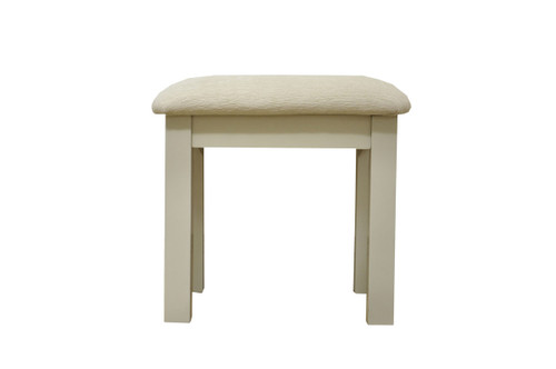 Elegance grey painted fabric pad D/Table stool, by Countrystyle. Available now from Countrystyle Interiors.