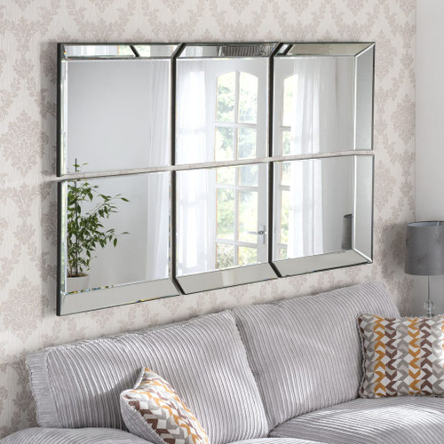 CS Byblos 6 panel combination mirror, by Countrystyle. Available now from Countrystyle Interiors.