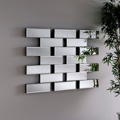 CS Maze brick style mirror, by Countrystyle. Available now from Countrystyle Interiors.