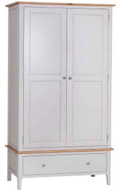 Danish style large 2 door / 1 drawer wardrobe, by Countrystyle. Available now from Countrystyle Interiors.