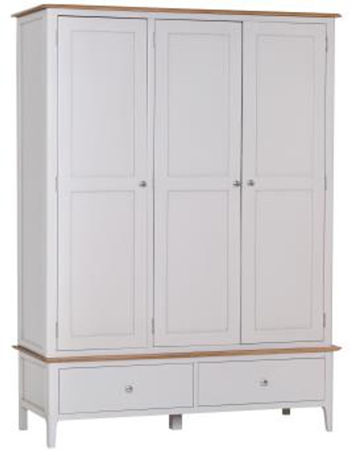Danish Style 3 door / 2 drawer wardrobe, by Countrystyle. Available now from Countrystyle Interiors.