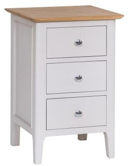 Danish style large 3 drawer bedside, by Countrystyle. Available now from Countrystyle Interiors.