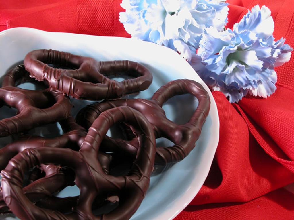 Dark Chocolate Covered Pretzels