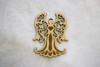 Wooden Ornament: Ruffle-edge Angel