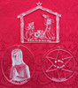 Acrylic Ornament: Variety Pack of THREE