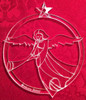 Angel with trumpet-3.5 inch diameter-a beautifully winged angel with trumpet and star at the top