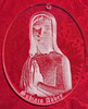Blessed Virgin- 2.75 inches wide x 3.5 inches high- a spiritual reflection of our Gentle Mother with praying hands. Includes Subiaco Abbey lettering