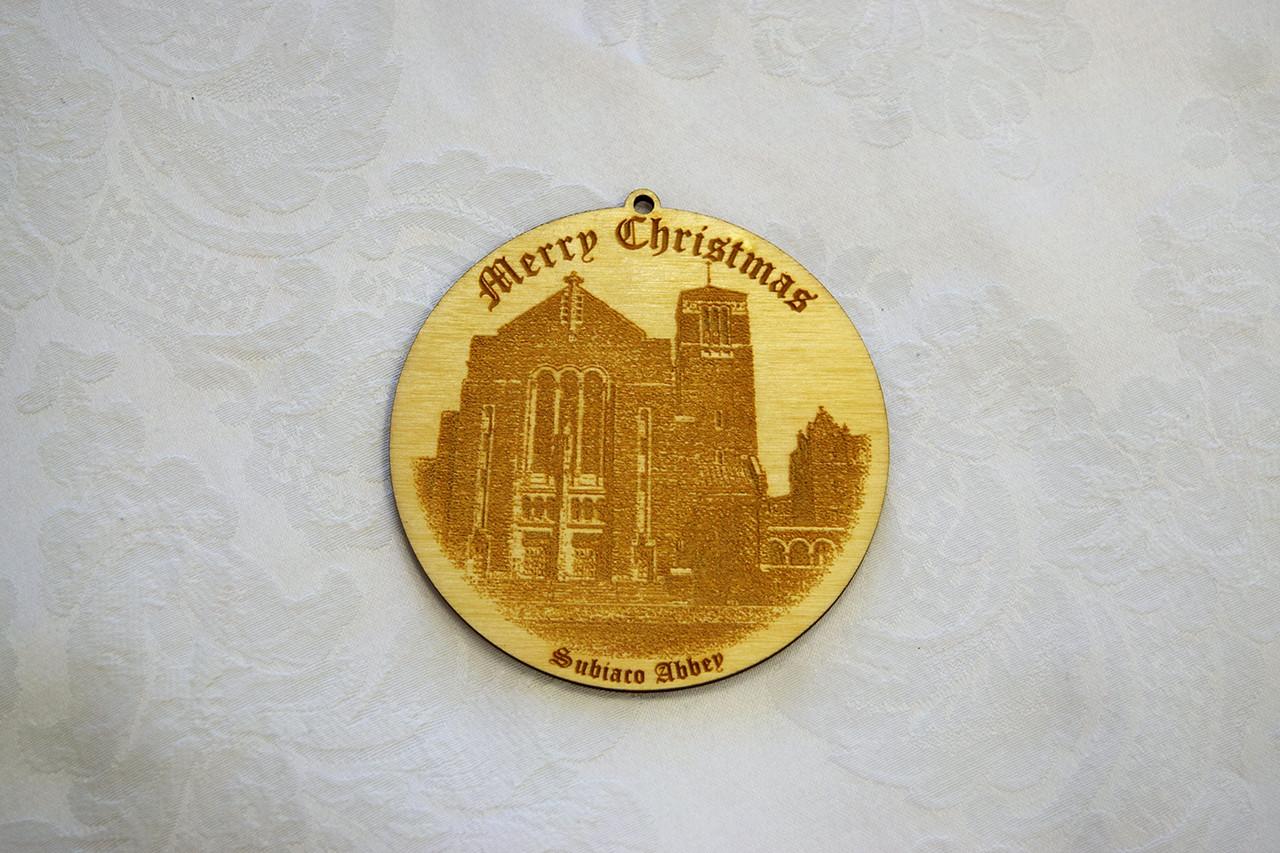 Wooden Ornament: St. Benedict Church