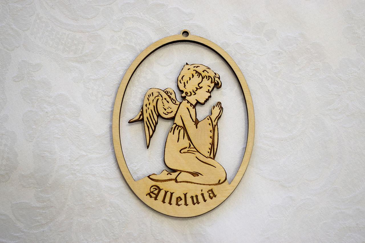Wooden Ornament: Little Child Angel