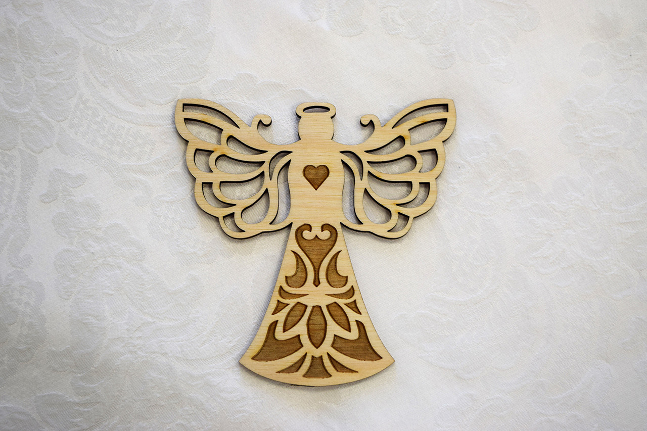 Wooden Ornament: Lace-wings Angel Large