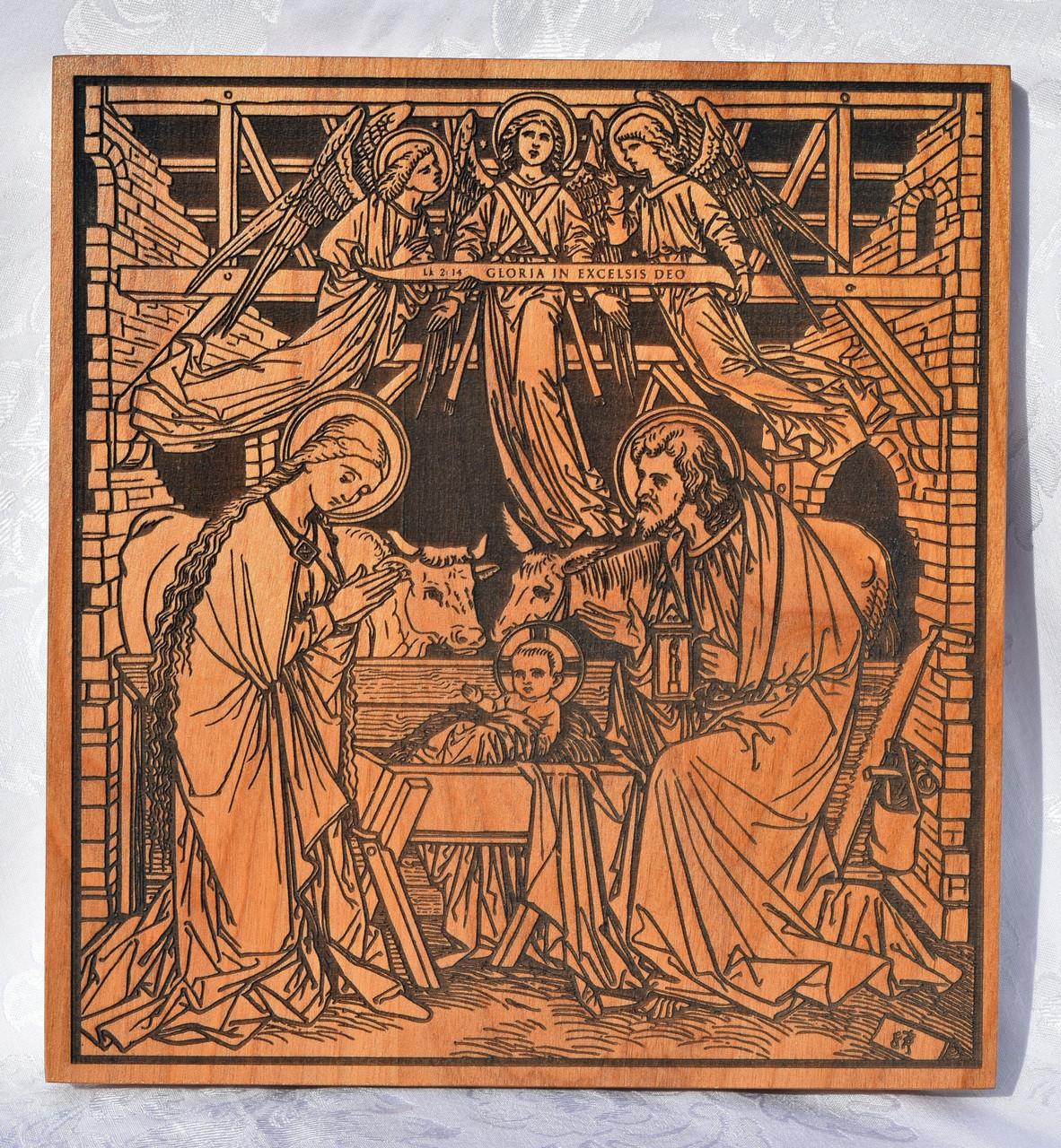 Large Carved Nativity