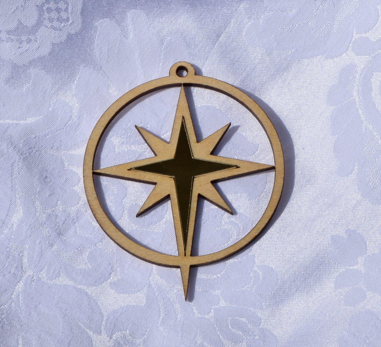 Wooden Ornament: Star of Bethlehem