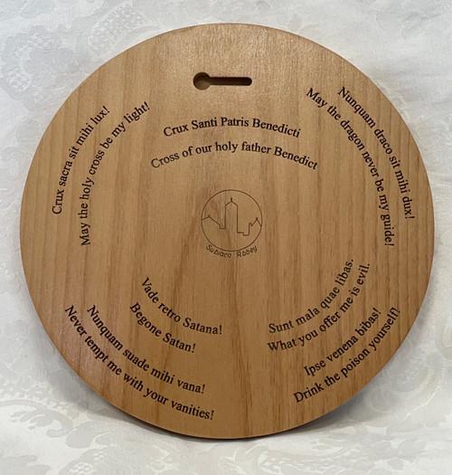 Benedictine Medal in Wood