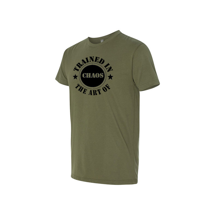 Stamp Fitted Tee (military green)