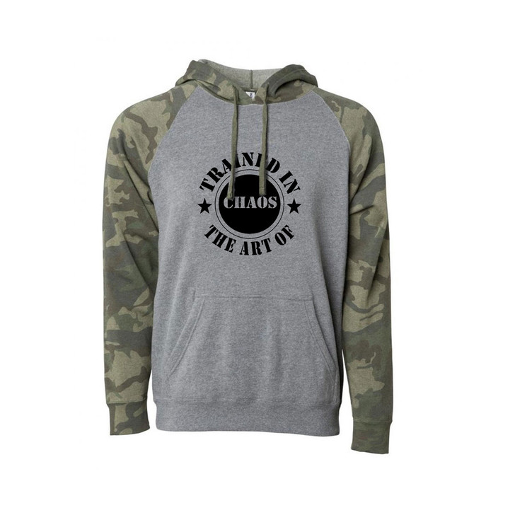 Stamp hooded pullover